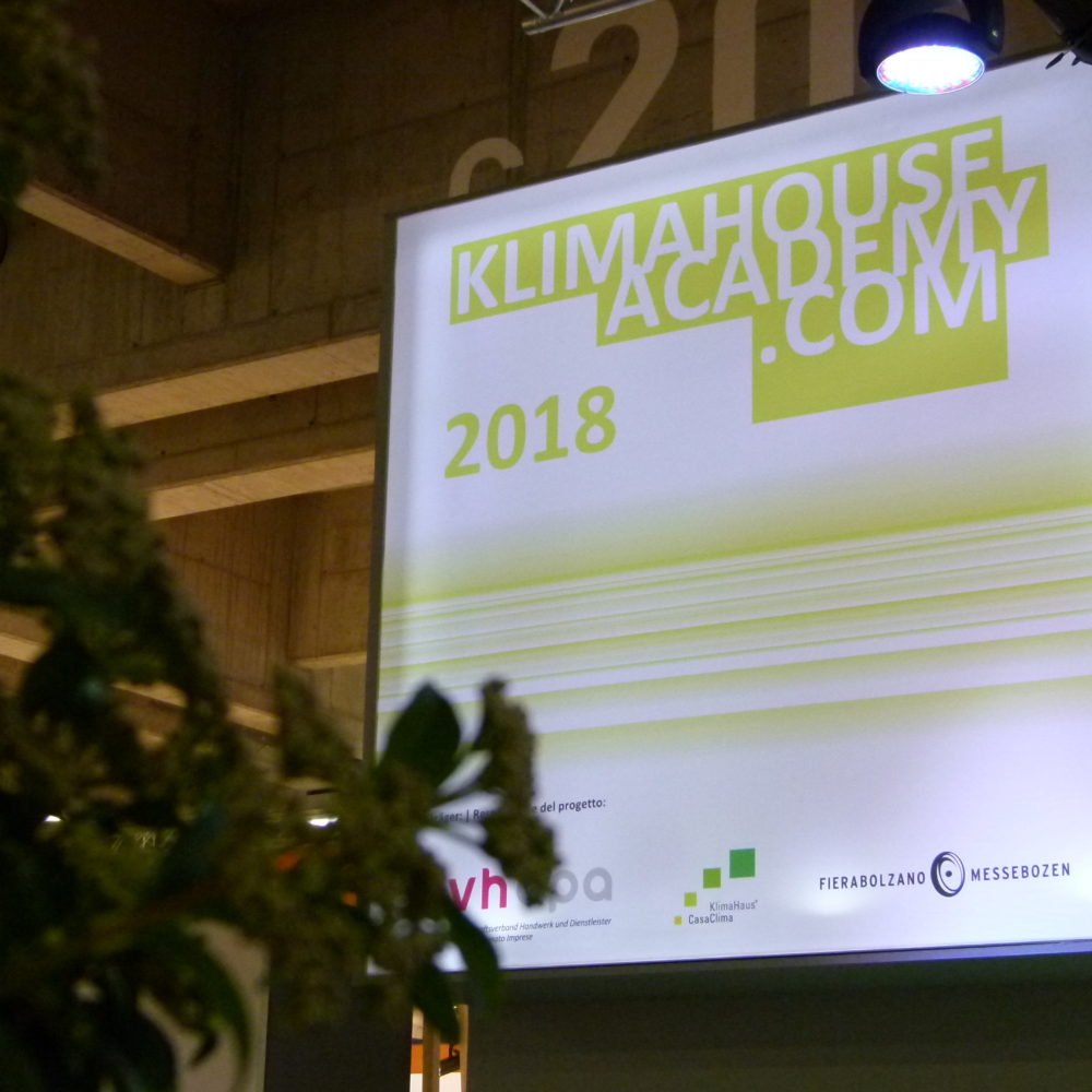 KlimaHouse Academy 2018