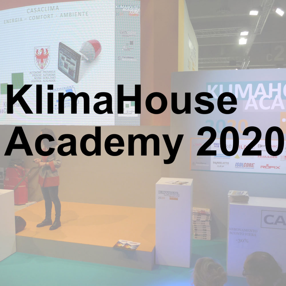 KlimaHouse Academy 2020